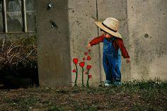 Street art in Vilnius, Lithuania by Jurgis Tarabilda