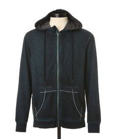 Fleece Zip burnout Hoody | NOIZE