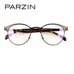 14eafb6e182 PARZIN Retro Big Round Glasses Frame With Clear Lens Fashion Tortoiseshell Myopia  Glasses Frame Unisex Eyewear