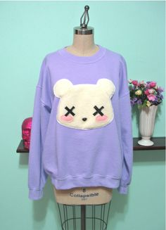Kawaii Grunge Deaddy Bear Sweater
