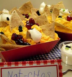 Nachos cupcakes for school carnival