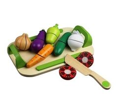 Mediniai žaislai : Medinės daržovės pjaustymui - LAVI parduotuvė