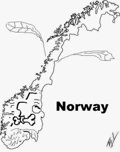 Funny Maps An Outline Map Of Turkmenistan Funny Maps Of The - Norway map outline