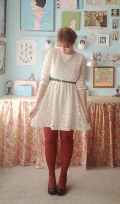 dress - modcloth  belt - forever 21  tights - target  shoes - c/o blowfish  I hope everyone had a lovely Christmas! Mine was fantastic! I ...