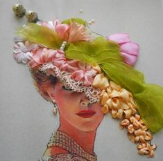SILK EMBROIDERY WITH RIBBON             PC