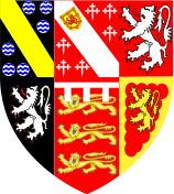 A colour emblazonment of the modern arms of the Barons Stourton.