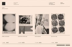 (This is the kind of pink-as-white vibe I am trying to cultivate on my website) Bookworks, YES - Screen. Website Design Inspiration, Graphic Design Inspiration, Layout Inspiration, Graphic Design Posters, Graphic Design Typography, Branding Design, Minimal Web Design, Web Layout, Layout Design