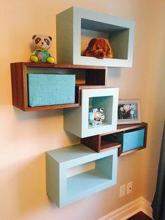étagères cubiques chambre d'enfants Floating Shelves, Cube, Bookcase, Home Decor, Cube Shelves, Child Room, Children, Decoration Home, Room Decor