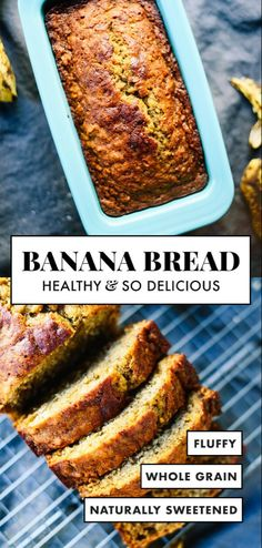 This healthy banana bread is naturally sweetened with maple syrup. With only a f… This healthy banana bread is naturally sweetened with maple syrup. With only a few simple ingredients, you're one bowl away from the best banana bread ever! Healthy Bread Recipes, Banana Bread Recipes, Gourmet Recipes, Cooking Recipes, Dinner Recipes, Free Recipes, Simple Recipes, Banana Bread Recipe 3 Bananas, Best Healthy Banana Bread Recipe