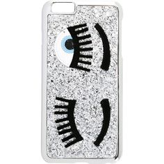Chiara Ferragni Flirting iPhone 6 Plus Case ($38) ❤ liked on Polyvore featuring accessories, tech accessories, phone cases, cases, phones, capinhas, metallic and chiara ferragni