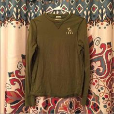 ❤️ Abercrombie and Fitch Muscle Top Abercrombie & Fitch Long sleeved top • Size XL • army green • Muscle • mens Abercrombie & Fitch Tops Tees - Long Sleeve