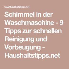 Schimmel in der Waschmaschine - 9 Tipps zur schnellen Reinigung und Vorbeugung - Haushaltstipps.net