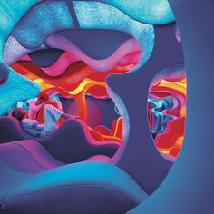 a futuristic interior from Danish designer, Verner Panton.