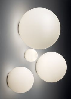 Artemide Dioscuri 14 Wall/Ceiling Lamp (q) - Dioscuri is a timeless fixture that diffuses heavenly light. This multi-purpose luminaire features a minimalistic design that transcends time . Ceiling Fixtures, Ceiling Lamp, Wall Lights, Ceiling Lights, Shops, Glass Diffuser, Diffused Light, Kugel, Interior Lighting