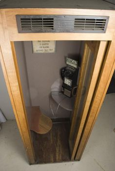 Old Pay Phone Booth