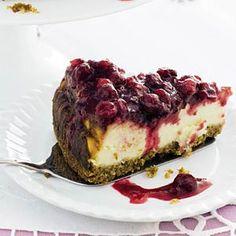 Recept - Frisse cranberrycheesecake - Allerhande