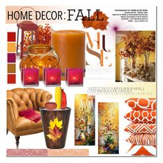 #fallhomedecor by insaneryk on Polyvore featuring polyvore, interior, interiors, interior design, home, home decor, interior decorating, Avoca, Flamant, Cultural Intrigue, Crate and Barrel, Seasonal Living, Home Decorators Collection and Lazy Susan