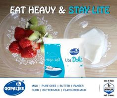 Don't compromise on your quantity of #curd, try our #dahi lite. #Fitness #Healthy