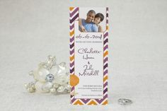Photo Booth Save the Date Linen Cards - Chic Chevron | MagnetStreet