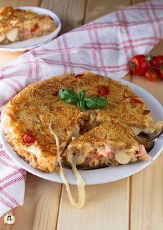 Torta di pane raffermo in padella - Ricetta Focaccia filante e facile