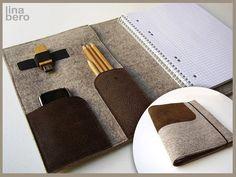 Taschenorganizer - organizer filz und leder - ein Designerstück von lina-bero bei DaWanda