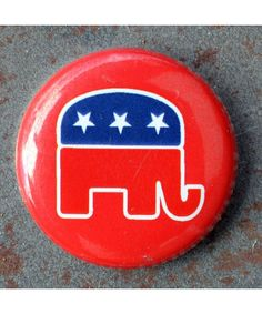 Republican Elephant MiniButton