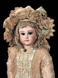 In the Mind's Eye - The Geri Baker Collection: 3 A Spectacular French Bisque Bebe,Size 13,by Schmitt et Fils with Original Body