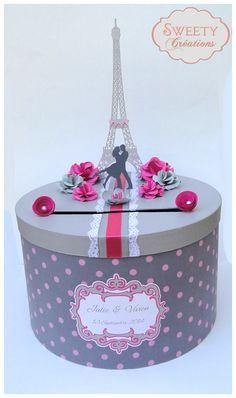 Urne pour mariage thème Paris