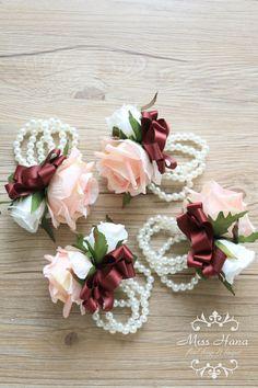 Blush Pink Rose Wrist Corsage by Miss Hana Floral Design http://etsy.me/2hsI5Fd