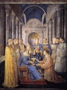 Fra Angelico, L'ordination de saint Laurent comme diacre, entre 1447 et 1451, Fresque (Chapelle Nicoline, Vatican, Rome)