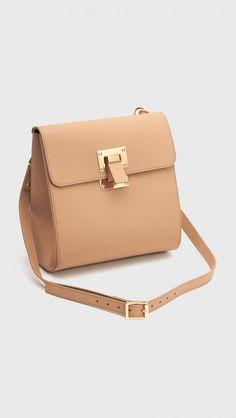 Sophie Hulme Box Flap Handbag in Camel | The Dreslyn