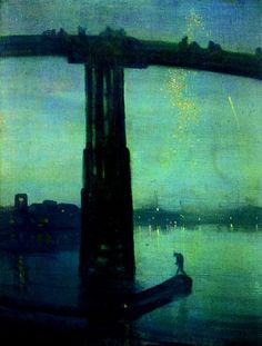Nocturne: Blue and Gold – Old Battersea Bridge c. 1872 - James Abbott Mcneill Whistler