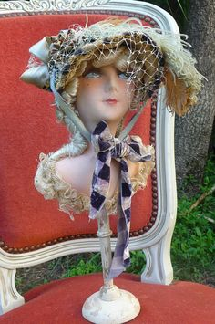 Boudoir doll hat stand on eBay