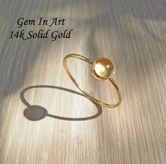 Solid Gold Dainty Ring14K Solid Gold Stacking Ring14K Gold Dainty Gold Rings, 14k Gold Ring, Tourmaline Ring, Make A Gift, Stackable Rings, Personalized Jewelry, Solid Gold, Handcrafted Jewelry, Art Designs
