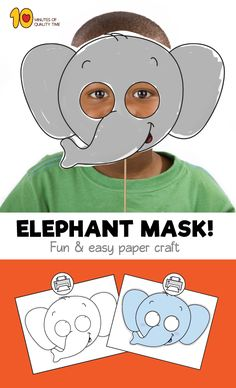I chose this pin because I can imagine students in my future classroom creating elephant masks. Paper Plate Crafts For Kids, Easy Arts And Crafts, Easy Paper Crafts, Elephant Crafts, Elephant Zoo, Classroom Crafts, Preschool Crafts, Farm Animals Preschool, Zoo Animals