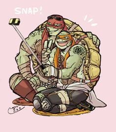 Raph and Mikey by mosaic47 on DeviantArt