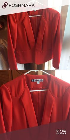 Red/Orange blazer Red/orange blazer - like new worn once size medium Jennifer Lopez Jackets & Coats Blazers