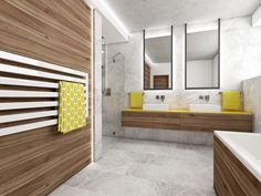 Unisex kids' bathroom   by CADFACE Unisex, Studio, Czech Republic, Bathrooms, Mango, Furniture, Kids, Design, Home Decor