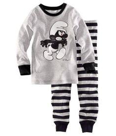 Wholesale 90 95 100 110 120 130 boys smurf pajamas set children fashion pajamas kids long sleeve nightwea, Free shipping, $8.71~8.74/Set | DHgate
