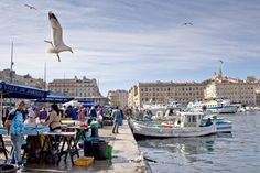 """A fish market at the old port of Marseille, France, a city that writer Peter Mayle (of """"A Year in Provence"""" fame) features in his most recent novel."""