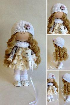 Handmade doll Interior doll Soft doll Textile by AnnKirillartPlace