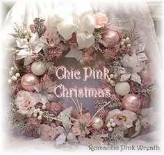 Well-liked Pink Christmas Wreaths Pink Christmas Decorations, Pink Christmas Tree, Victorian Christmas, Vintage Christmas, Christmas Crafts, Shabby Chic Xmas, Pink Wreath, Xmas Wreaths, Christmas Wonderland