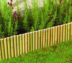 Bamboo Hurdle Garden Lawn Border Flower Bed Edging (1.2m)