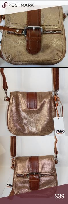 """Tano Mini Me Diva Crossbody bag New with tags. Tano Crossbody Bag Material: Leather Dimensions: Height: 7"""", Width: 7.5"""". Tano Bags Crossbody Bags"""