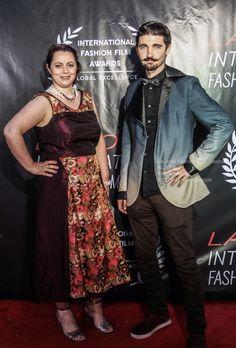 Michael Martin and Venezia Petrova La Jolla Fashion Film Festival UC San Diego Film Fashion, Red Carpets, La Jolla, Film Festival, San Diego, Punk, Celebrities, Design, Style