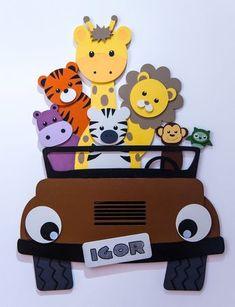 Jipe Safari Safari Theme Birthday, Safari Party, Class Decoration, School Decorations, Animal Crafts For Kids, Art For Kids, Jungle Theme Rooms, Kindergarten Design, Birthday Backdrop