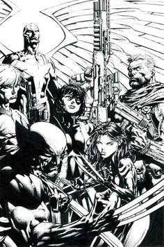 Uncanny X-Men #525 variant cover, pencils by David Finch, & inks by Matt Banning! (Marvel comics)