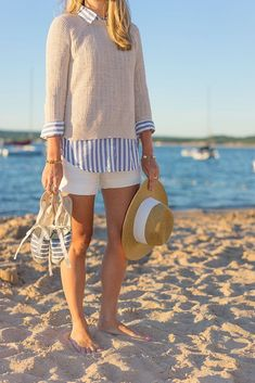 Outfit ideas for july boating outfit, sailing outfit, nautical outfits, Casual Outfits For Work, Preppy Summer Outfits, Nautical Outfits, Preppy Casual, Moda Casual, Style Casual, Nautical Fashion, Casual Styles, Preppy Style