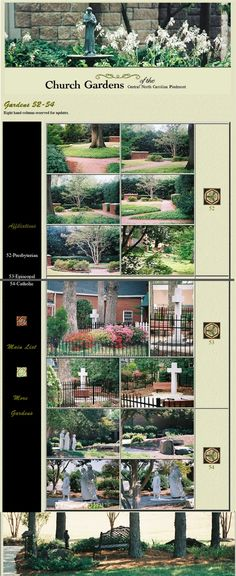 Church Gardens of the Carolina Piedmont: Another page from former website, re-assembled Lutheran, Catholic, City Photo, Maine, Gardens, Landscape, Website, Scenery, Outdoor Gardens