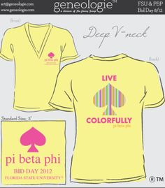 Live Colorfully #PiBetaPhi #bidday #recruitment @geneologie